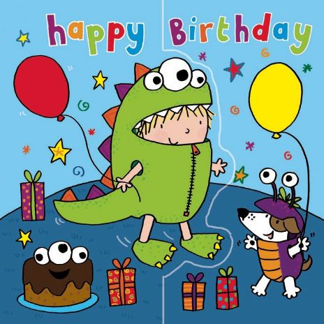 Monster Birthday Card, Sparkly Card,  Pop Out Card TW198